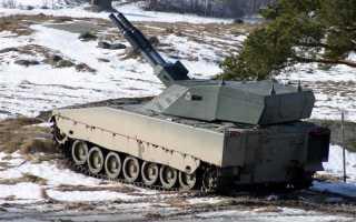 Самоходное орудие CV90 AMOS (Швеция)