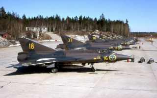 Многоцелевой истребитель Saab J.29 Tunnan (Швеция)