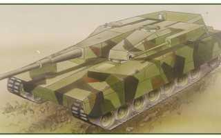 Опытный танк Stridsvagn-2000 (Швеция)
