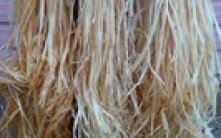 Изготовление верёвок из липовой коры