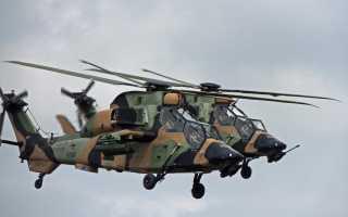 Ударный вертолёт EC665 Eurocopter Tiger (Франция-Германия)