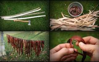 Изготовление верёвки из коры ивы своими руками