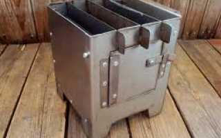 Бушкрафт. Конструкция печки «щепочницы»