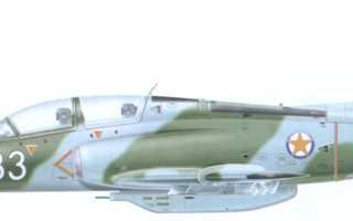 Учебно-боевой самолет G-4 Super Galeb (Италия)
