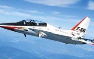 Учебно-боевой самолёт KAI T-50 Golden Eagle (Южная Корея)