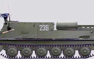 Опытная зенитная самоходная установка БТР-50П с ЗТПУ-4 (СССР)
