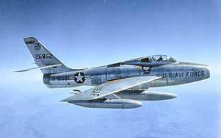 Истребитель Republic F-84F Thunderstreak (США)